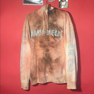 Thrash Metal hoodie - bleach reverse weave design